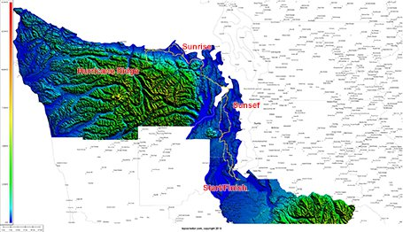 Topocreator county elevation map for the four counties on this ride. (Click to enlarge and see more detail)