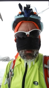 Mid-ride ice beard today 12/28 finishing out the Festive 500 with a 79 miler on the mtb and fat bike.