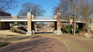 The UNA  campus was deserted for winter break on Friday.