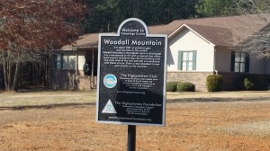 Informational sign about Woodall Mountain.