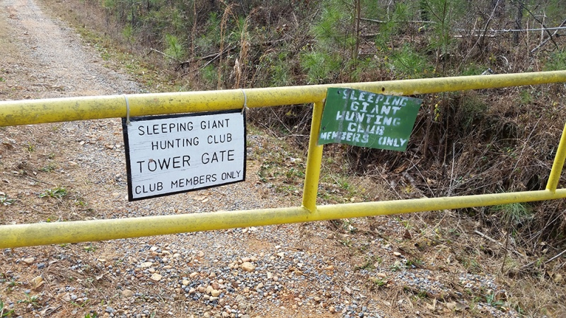 Sleeping Giant tower gate.