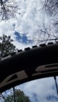 My vantage point looking up at the sky with my bike on top of me after crashing.