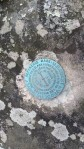 Survey marker at the highest spot in Oak Mountain - 1286 ft at Shackleford Peak.