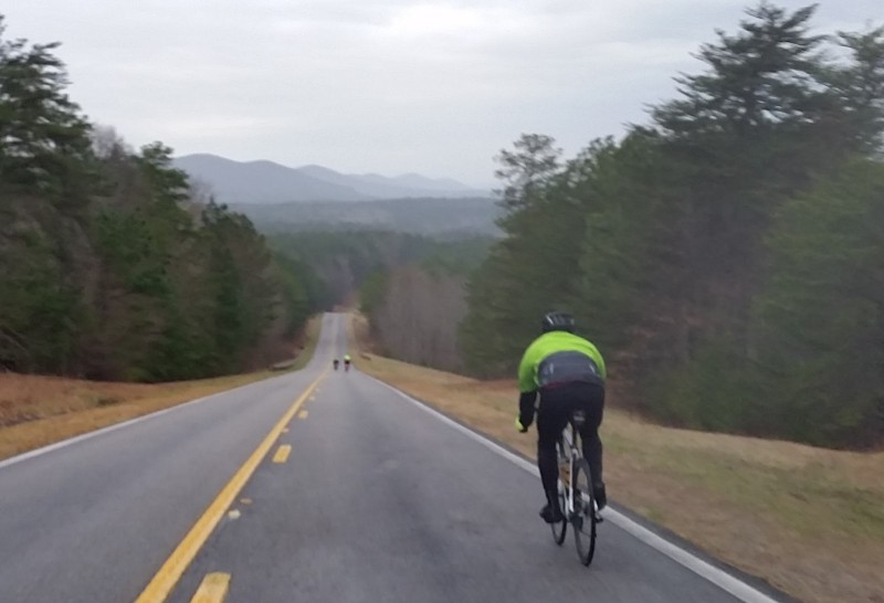One of my favorite views in Alabama - the skyway epic ridge line heading out towards Adams Gap and Horn Mountain viewed from the Cheaha descent.