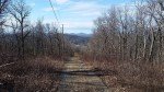 Looking back down the powerline cut climb to the fire tower.