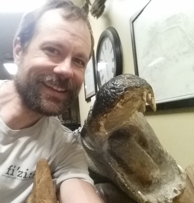 Selfie with an alligator for @ktoone.