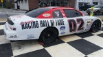 Nascar race car in the town square.