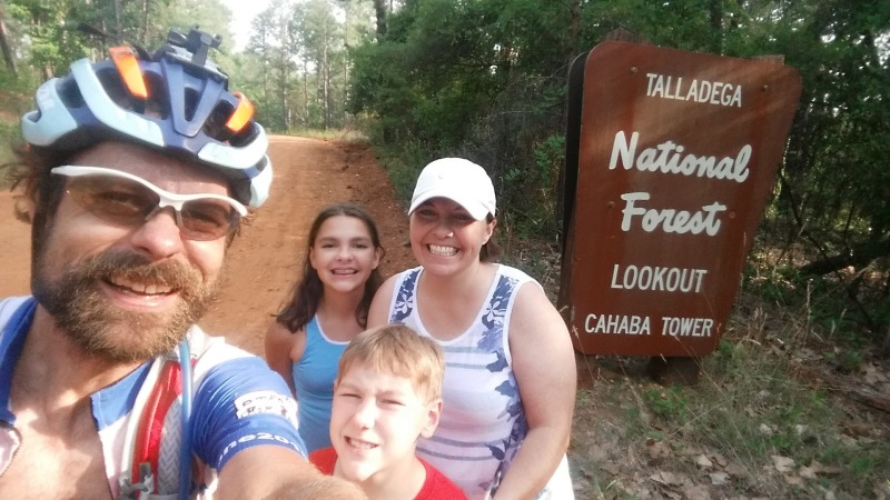 My family at the Cahaba Lookout Tower. Epic.