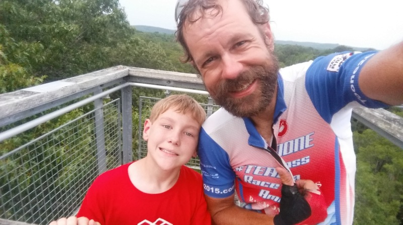 Josiah and I at the top of the 100 ft tall birding tower. Note how the tree behind us is even taller!