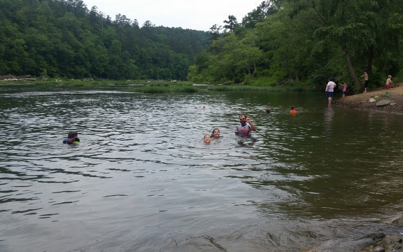 Swimming with the kids in the Cahaba River at the Cahaba River Naitonal Wildlife Refuge outside West Blocton.