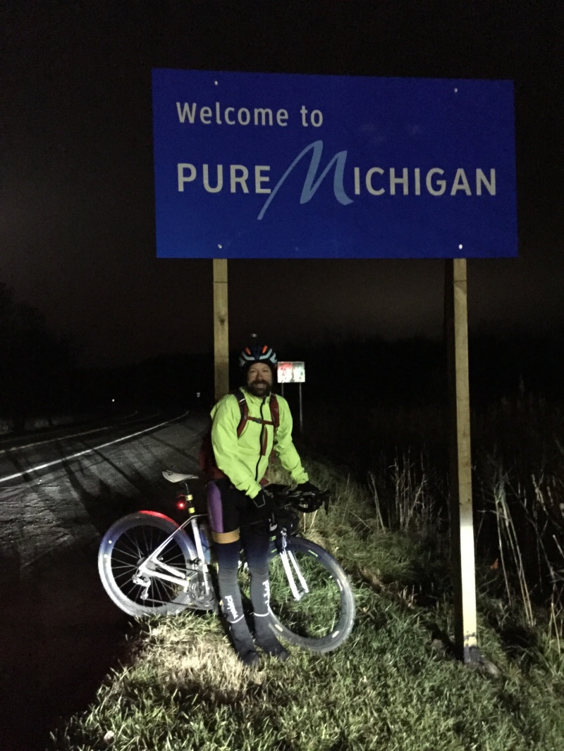 Michigan! 706 miles from Hoover, Alabama to New Buffalo, Michigan in two days!