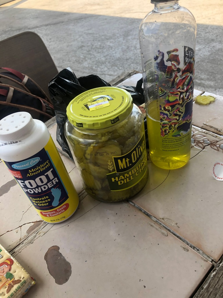 foot powder and pickle juice